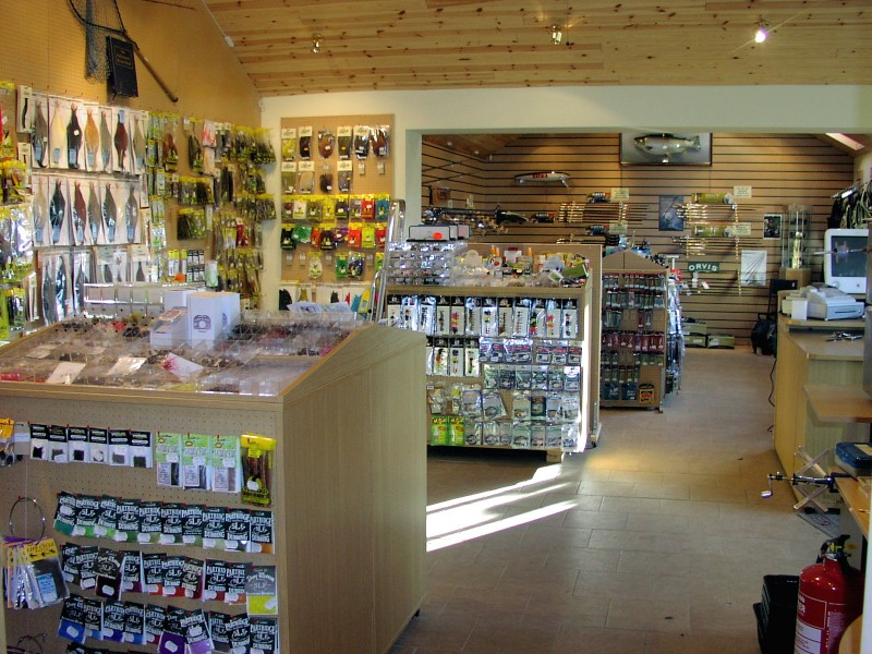 Inside the Anglers Lodge Tackle Shop