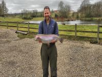 Stuart Sexton from Darlington 13lb 2oz caught on Olive Bloodworm