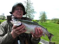 Bill Neville from Guisborough - 5lb & 4lb 9oz. caught on a gold snatcher very close to the surface.