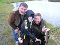 Harry Walker, centre, Dad John & Grandad John Walker