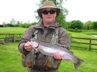 Ian Grey from West Auckland. 4lb 11oz, olive fritz lure